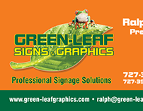 Promotional materials for Green Leaf Signs & Graphics