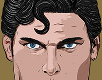 Christopher Reeve's Superman Digital Illustration