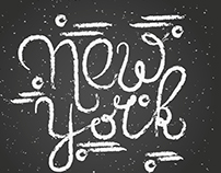 New York inspired lettering in different styles.