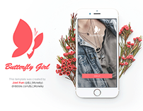 Butterfly Girl Iphone6 Mockup