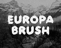 Europa Brush — FREE Textured Brush Font