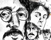 Ilustração dos Beatles
