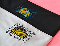 Embroided tiger t-shirts