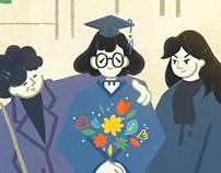 1988 University graduation ceremony