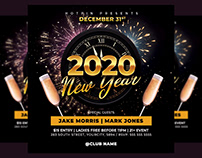 New Year Flyer Invitation Template