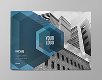 Modern Blue Architecture Brochure