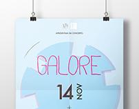 Galore (concert) + Phizz (dj set) // poster