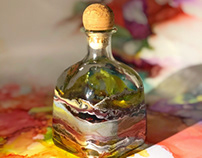 Alcohol Ink On Recycled Bottle