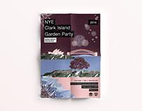 Branding for NPWS NYE 2016 Clark Island Garden Party