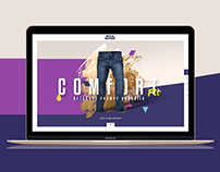 Jeans fashion microsite W&D