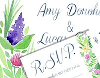 Wildflower Watercolor Wedding Suite