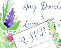 Wildflower Watercolor Wedding Suite