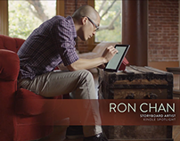 Fire Tablet ad, featuring comic book artist Ron Chan
