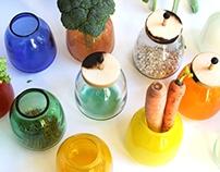 """The blown glass jars """"Inside"""" Скляні ємності """"Inside"""""""