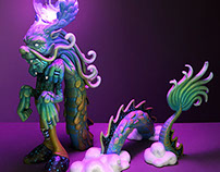 JADE DRAGON, PURPLE SKY / Custom Toy