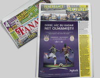 Digiturk Derby Newspaper Ads