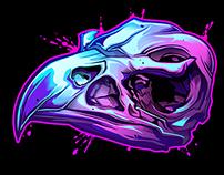 Savage Skulls Temporary Tattoos