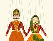 Rajasthani Puppet themed invite | Digital stop motion