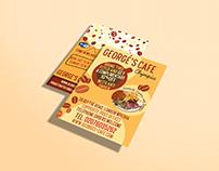 George's Cafe Leaflet