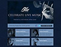Blu - Live Music Email Blast
