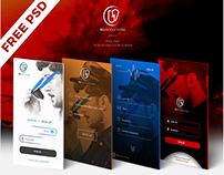 FREE LOGIN AND SIGN UP SCREEN PSD