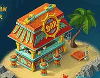 Mayan Beach Bar (isometric)