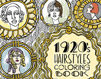 1920s Hairstyles Coloring Book
