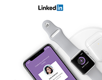Linked in UI Concept for Iphone X