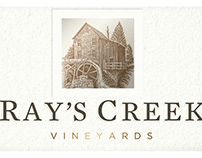 Ray's Creek Vineyards Label Illustrated by Steven Noble