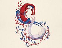 Ilustración. Continuidad de los parques, de J. Cortázar