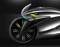Electric motorcycle concept - Cafe' Racer Style