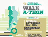 Walkathon Event Flyer Templates