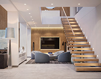Дизайн интерьера модульного дома 409кв.м