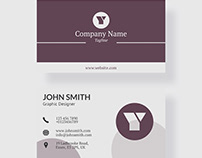 Elegant Graphic Designer Business Card