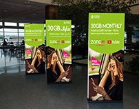 Standee Design | 30GB MONTHLY | ZONG 4G A NEW DREAM