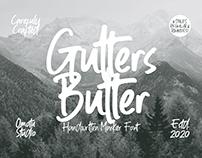 Gutters Butter | Handwritten Marker Font