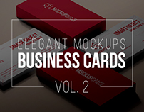 Elegant Business Cards Mockups vol. 2
