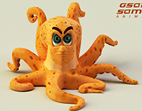 Mr. Angro 3D octopus character