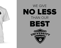 NIU Honors Program Official 2015-16 T-Shirt