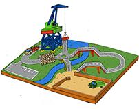 Playground for VDNH / площадка для фестиваля «Политех»