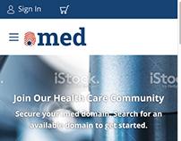Website concept for medical startup