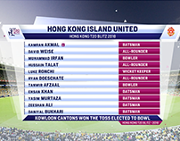 HONG KONG T20 BLITZ CRICKET 2018