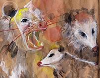 Sketchbook 02/15: birds and animals