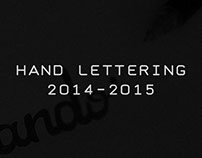 Hand Lettering 2014-2015