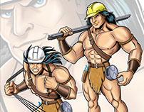 The Rebarbarian Company Mascot