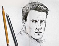 Sketches em papel