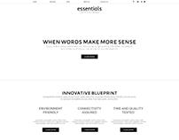 Essentials Pure Minimal Website Concept