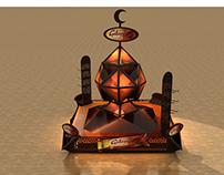 Stand display ramadan