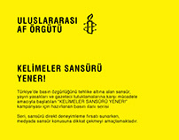 """""""Kelimeler Sansürü Yener!"""" Basın İlanı Serisi"""