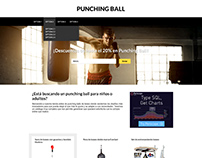 Diseño de home page e item page para punchingball.net
